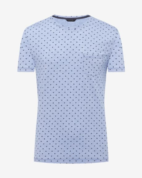 Printed Crew neck short sleeve t-shirt