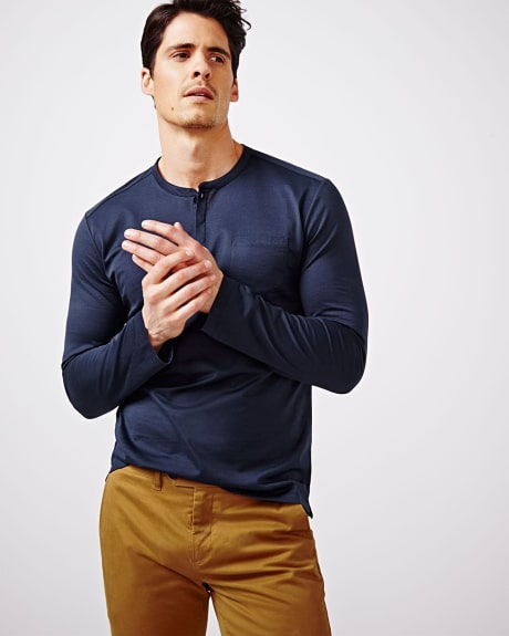 Mercerized Henley T-Shirt