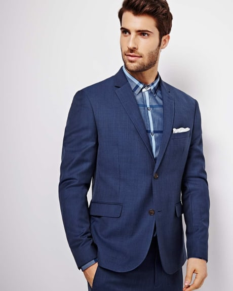 Athletic Fit Blue Blazer - Regular