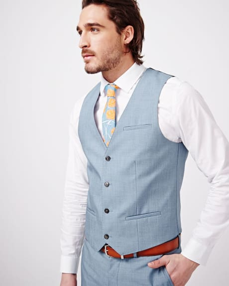 Slim Fit Light Bleu Suiting Vest