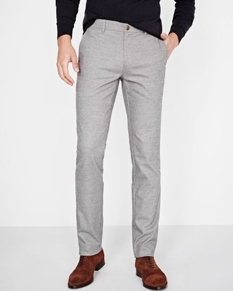 Slim Fit Brushed two-tone pant
