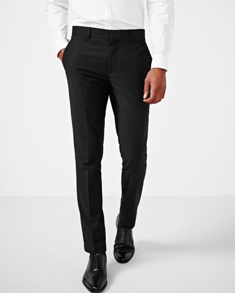 Tailored fit wool-blend pant in black - Tall