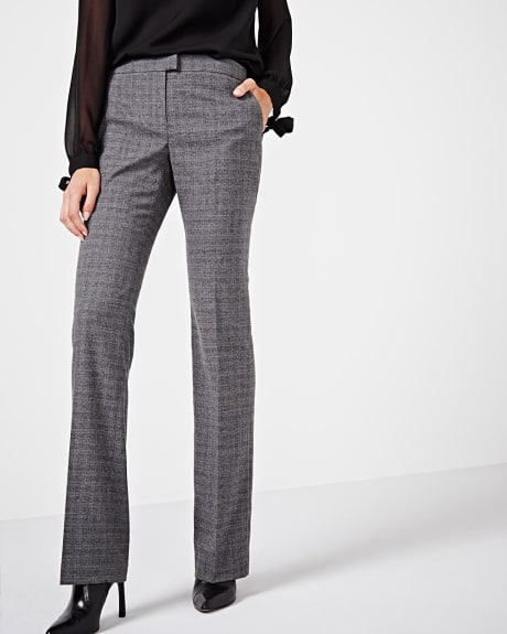 Everyday stretch Prince of Wales check Wide leg pant