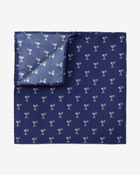 Cocktail Print Pocket Square