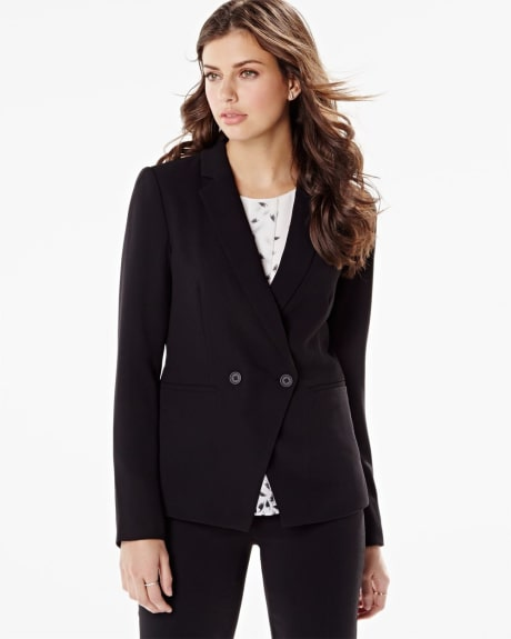 Modern crepe double-breasted blazer