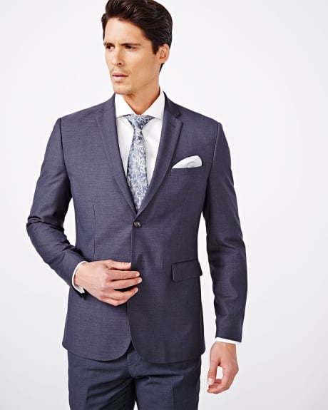 Tailored Fit Purple Blue Blazer - Regular
