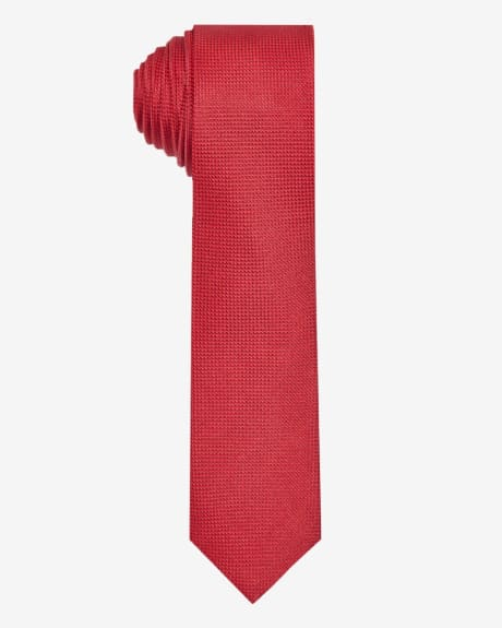 Skinny textured two-tone tie