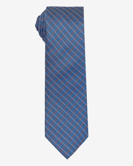 Regular Grid Check Tie