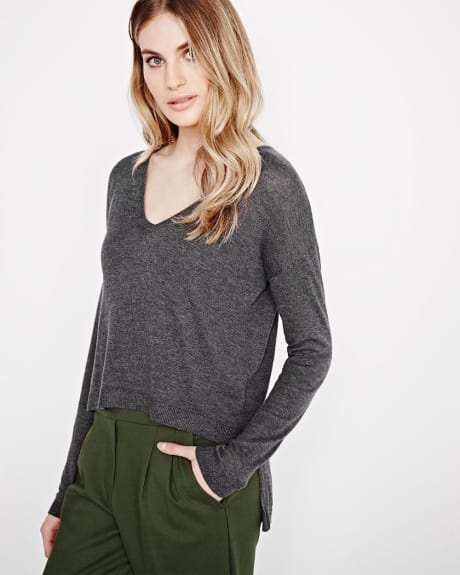 Lightweight deep V Sweater