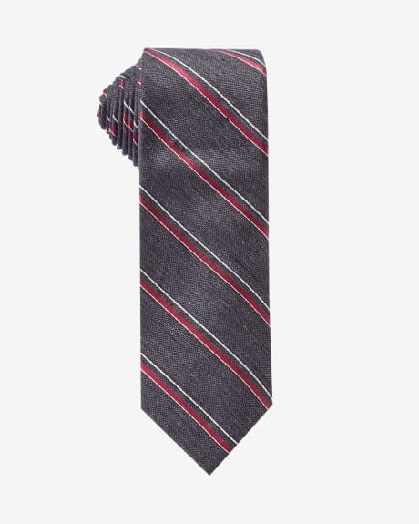 Regular tie with college stripes