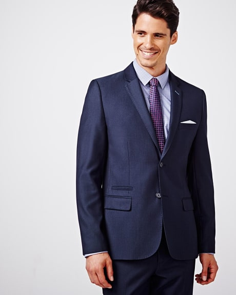 Tailored fit blue two-tone blazer - Regular