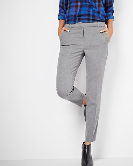 Stretch flannel ankle slim pant