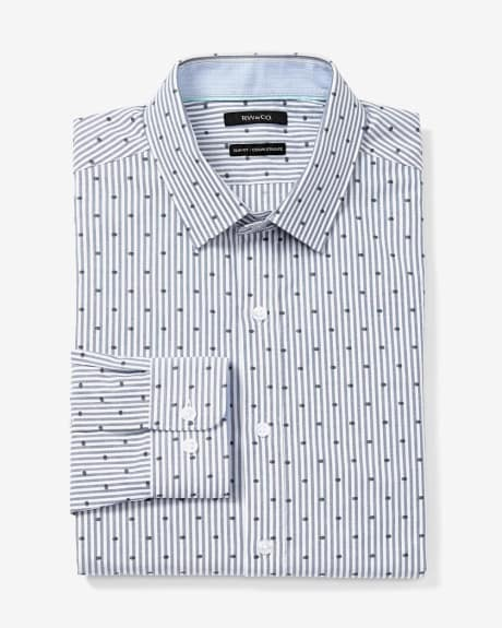 Slim Fit Printed Dress Shirt