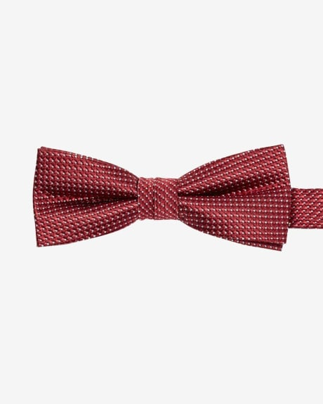 Skinny two-tone bow tie