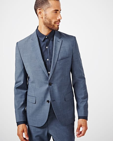 Tailored fit teal traveler blazer - Short