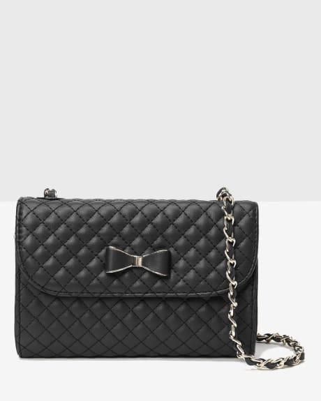 Quilted Clutch with Bow