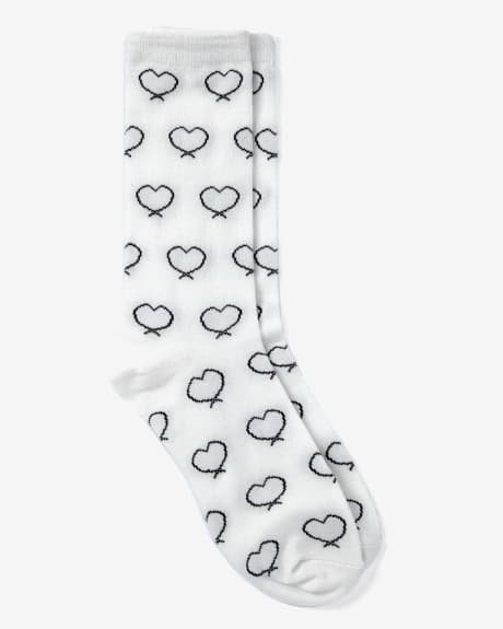 Women's heart socks