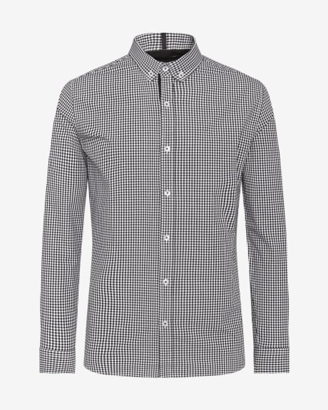 Tailored Fit Micro Vichy Shirt