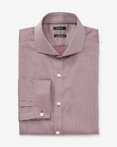 Wine stripe Athletic fit dress shirt