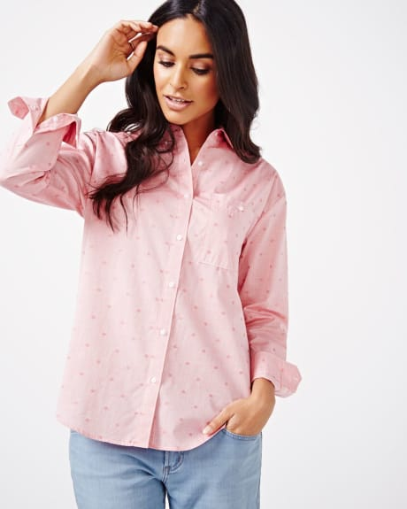 Dotted Boyfriend Shirt Blouse