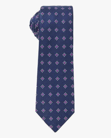 Regular tie with micro flowers