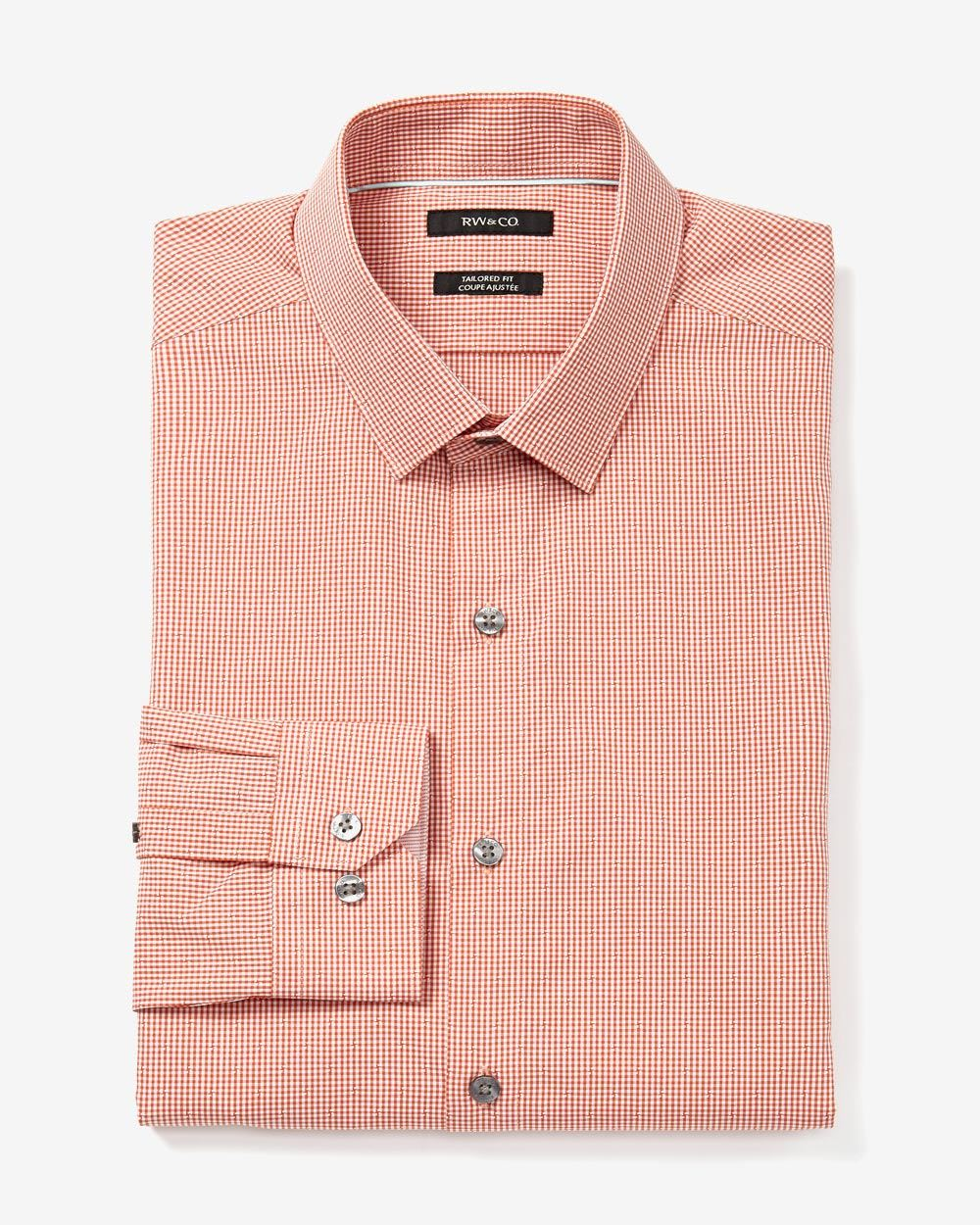 Tailored fit dress shirt rw co for Tailor dress shirt cost