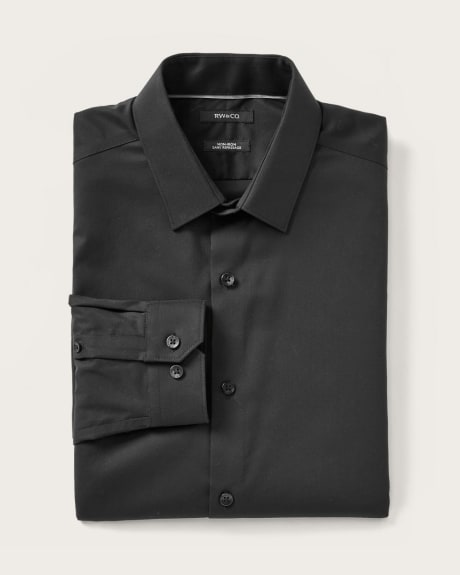 Athletic fit dress shirt in two-tone twill