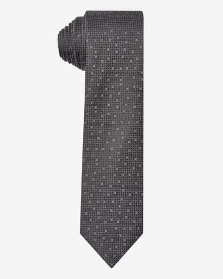Regular black textured tie.Black.1SIZE