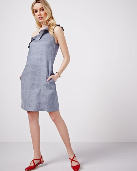 Robe Chambray à bretelle simple