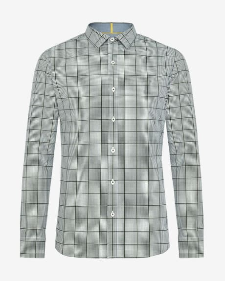 Tailored fit shirt in double pattern check