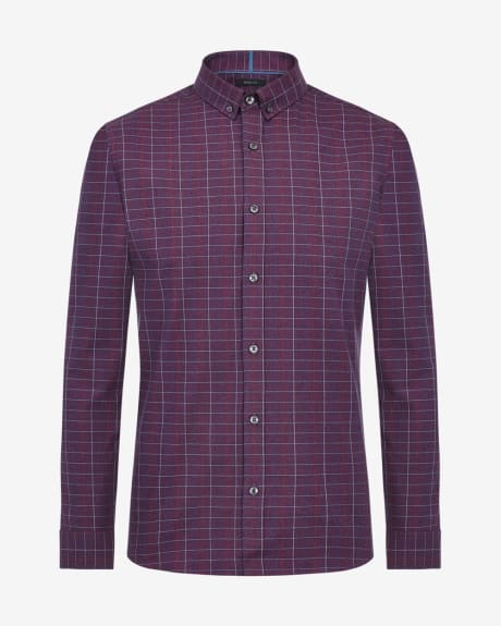 Slim fit twisted check shirt