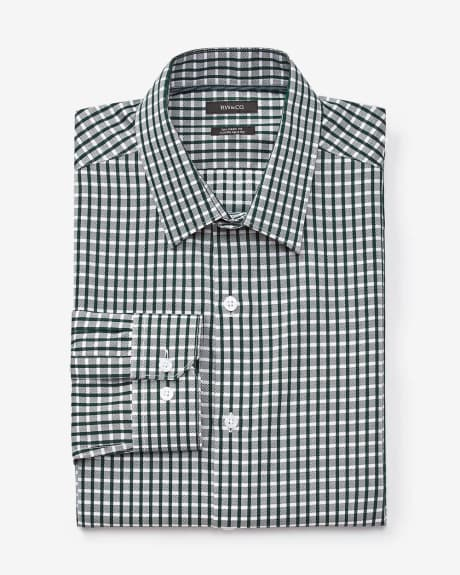 Tailored fit bold check dress shirt
