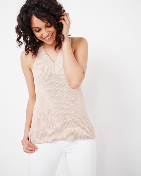 Sleeveless Chunky Knit Sweater