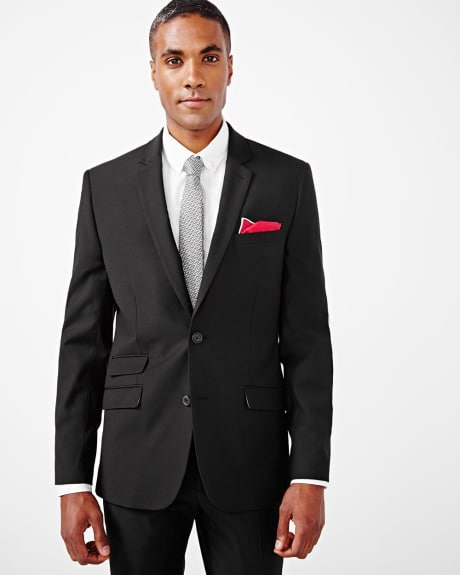 Tailored fit wool-blend black blazer - Tall