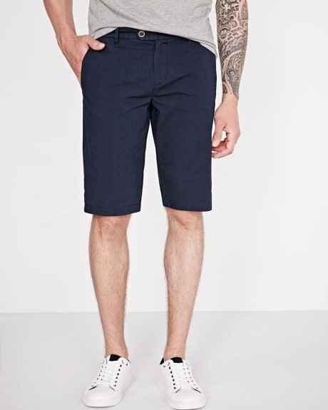 Stretch poplin bermuda short
