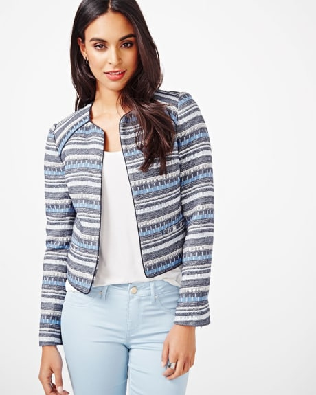 Structured Jacquard Blazer