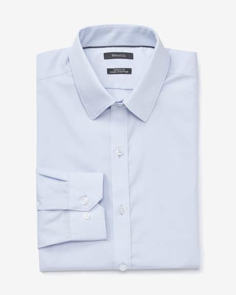 Athletic fit two-tone dress shirt