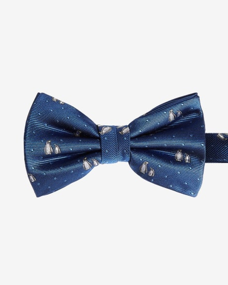 Wide Bow Tie with Penguin Print