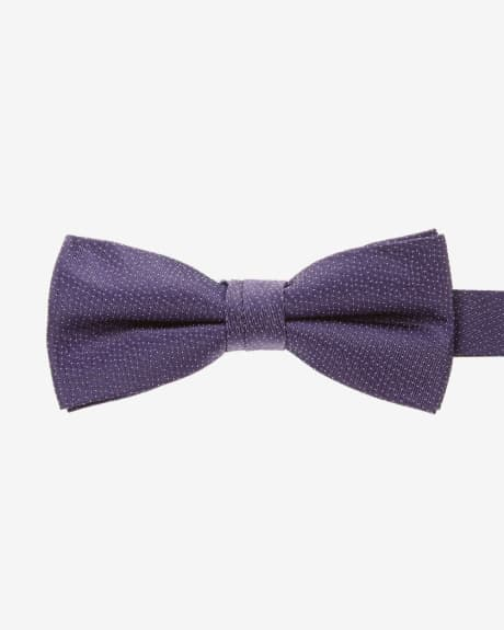 Classic purple tie with micro dots