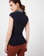 Peplum Sleeveless Sweater
