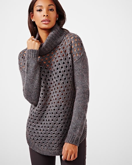 Fancy Stitch Tunic Sweater