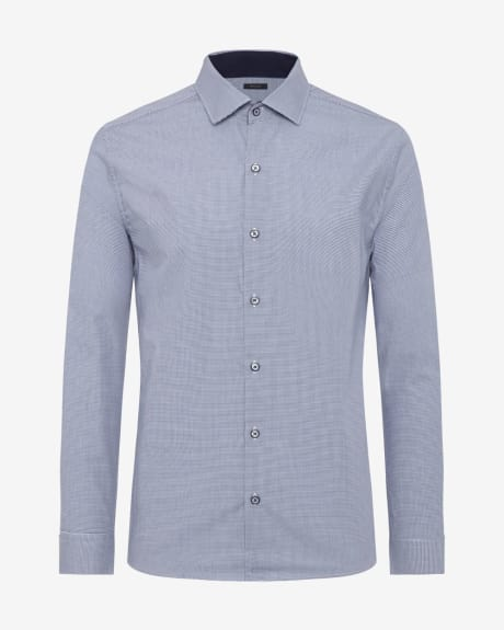 Tailored Fit Fine Houndstooth Shirt