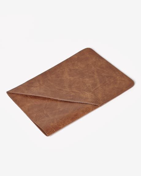 Faux leather tablet sleeve