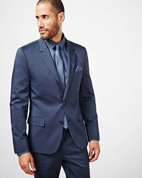Slim fit techno two-tone blazer - Regular