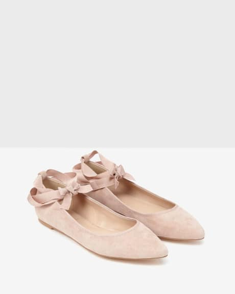 Ballerina Flat Shoe.Peach Blush.7.5