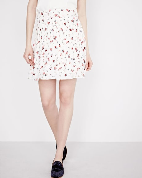 Silky Crepe floral skirt
