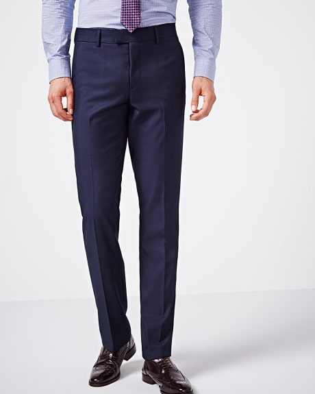 Tailored fit blue two-tone pant - Regular