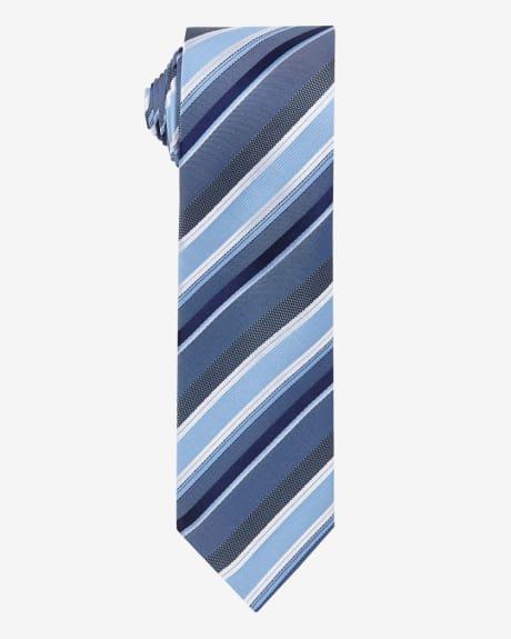 Regular Blue Striped Tie.Grey blue.1SIZE