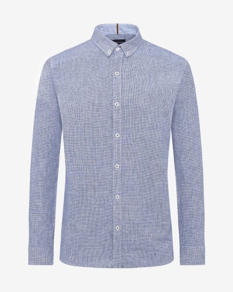 Tailored Fit Houndstooth Shirt