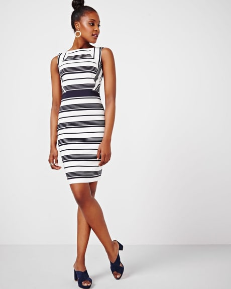 Striped Modern Stretch Dress